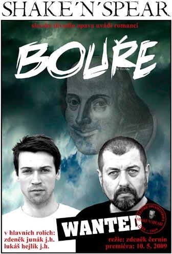 William Shakespeare - BOUŘE - plakát