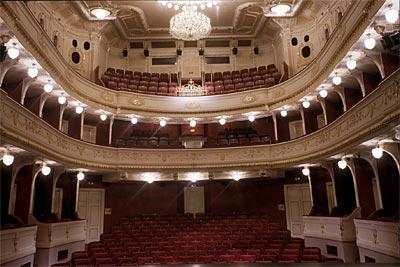 Interiér divadla - hlediště divadla