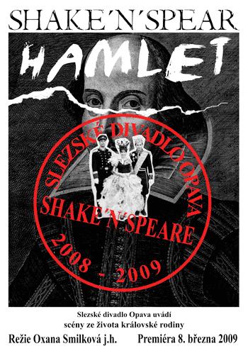 William Shakespeare - HAMLET - plakát