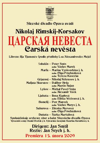 Nikolaj Rimskij-Korsakov - CARSKÁ NEVĚSTA - plakát