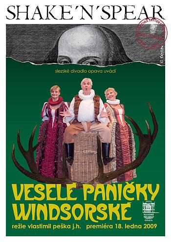 William Shakespeare - VESELÉ PANIČKY WINDSORSKÉ - plakát