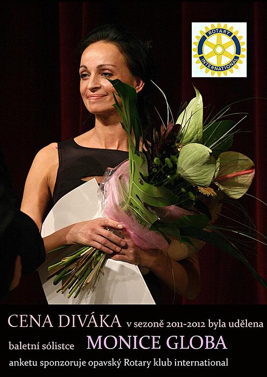 cena diváka byla udělena baletní sólistce Monice Globa