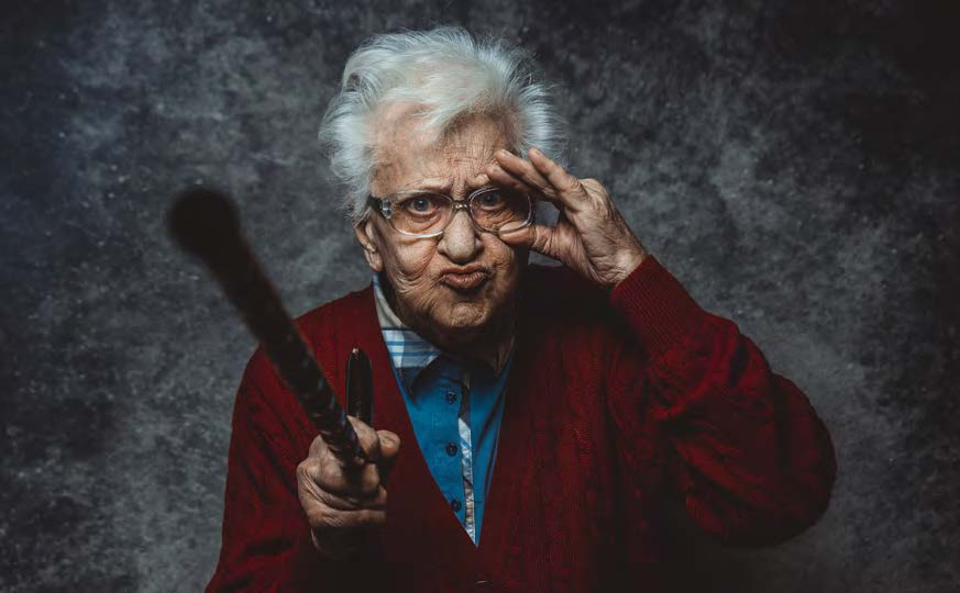 Babička drsňačka